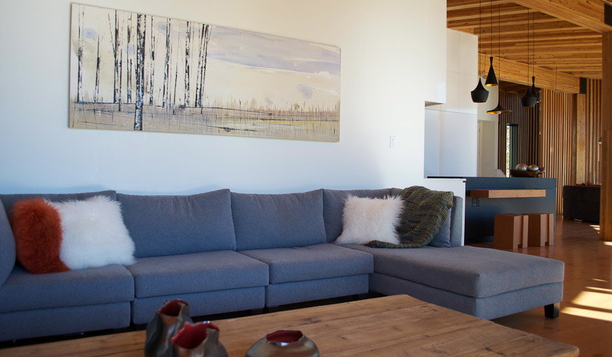 Artwork installed in beautiful home